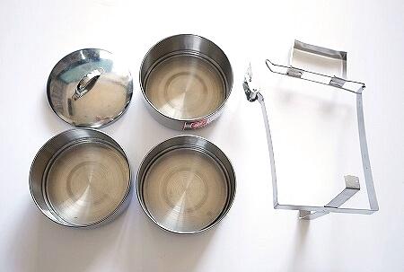 ミャンマー スーパー お土産 3段お弁当箱