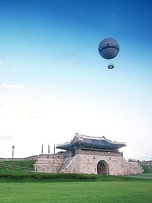 水原華城 気球 フライング水原