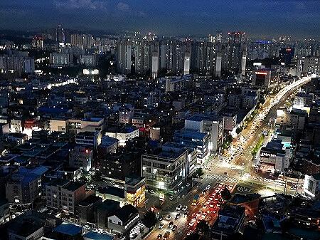 韓国 水原華城 フライング水原 気球 夜景