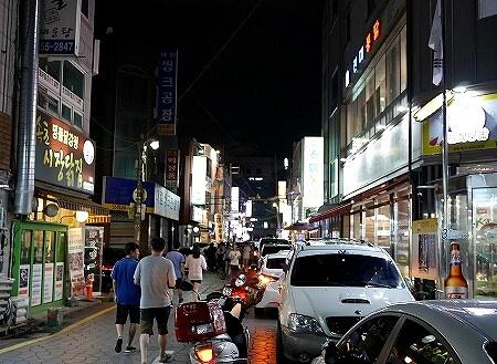 韓国 水原 チキン通り