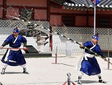 韓国 水原華城 武芸公演 ショー 武芸24技