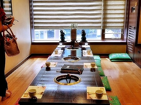 韓国 水原 カボジョン 佳甫亭カルビ 焼肉 個室