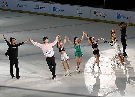 韓国 平昌オリンピック成功祈願アイスショー 高陽オウリムヌリアイスリンク
