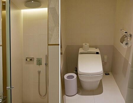 韓国、光明 GM JS ブティック ホテル GM JS Boutique Hotel シャワールーム トイレ