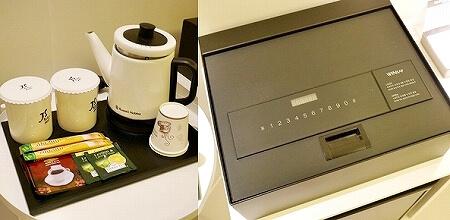 韓国、光明 GM JS ブティック ホテル GM JS Boutique Hotel 湯沸かしポット 金庫