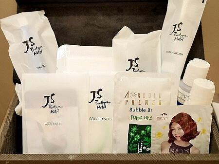 韓国、光明 GM JS ブティック ホテル GM JS Boutique Hotel アメニティ