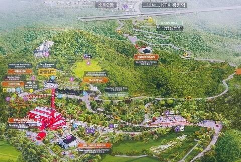 韓国 光明洞窟 地図