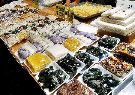 韓国 光明伝統市場 餅