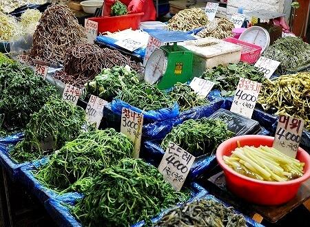 韓国 光明伝統市場 お惣菜