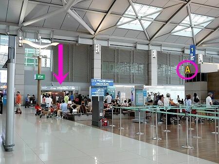 韓国 仁川空港 手荷物預かり所 場所 CJ大韓通運