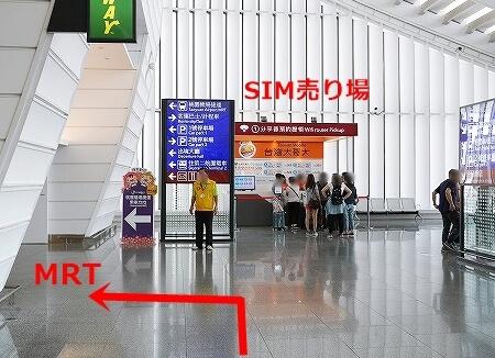 台湾 桃園空港 SIMカード 購入 店 入国後