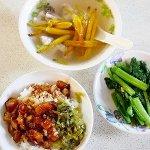 台湾 台北 香満園 魯肉飯 スープ 青菜