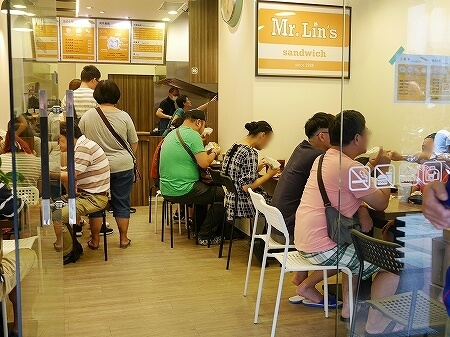 台湾 台北 Mr.Lin's 三明治 フレンチトースト サンドイッチ 店内