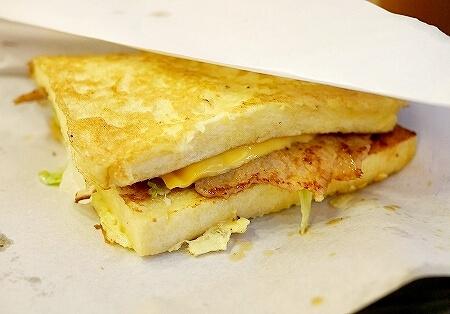 台湾 台北 Mr.Lin's 三明治 フレンチトースト サンドイッチ ポークステーキ チーズ 法式猪排