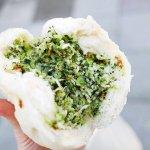 台湾 台北 光復市場素食包子 野菜まん 雪裡紅素包 雪菜まん