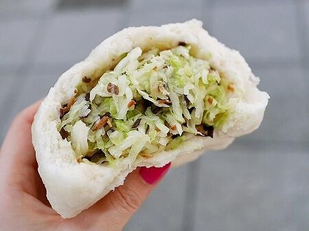 台湾 台北 光復市場素食包子 野菜まん キャベツまん 高麗菜包