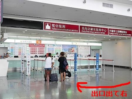 台湾 台北 桃園空港 第1ターミナル SIMカード売り場 場所 営業時間