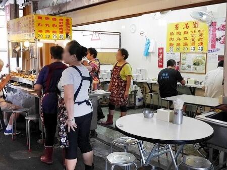 台湾 台北 香満園 魯肉飯 席