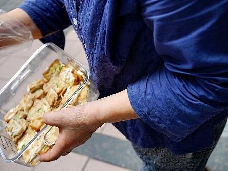 台湾 台北 蜜密 ヌガークラッカー ネギクラッカーサンド 試食