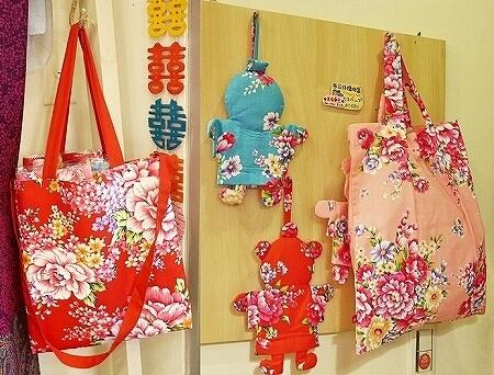 台湾 台北 永康街 おすすめ お土産屋 雲彩軒 花布 エコバッグ