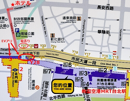 台北 シティスイーツ北門 城市商旅北門館 おすすめホテル 行き方 立地 地図