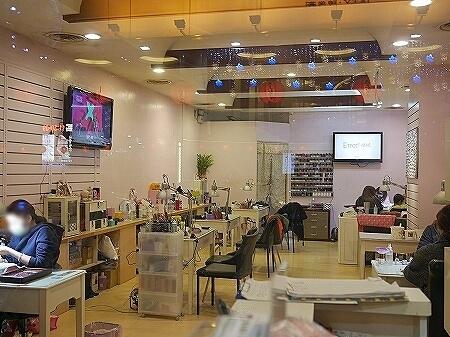 台湾 台北 愛麗糸時尚美甲 ネイルサロン Alice fashion nail 店内