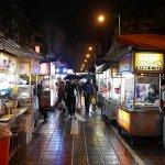 台湾 台北 寧夏夜市 雨