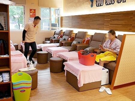 台湾 台北 精気神養生会館 中山店 マッサージ 足裏 足つぼ 店内