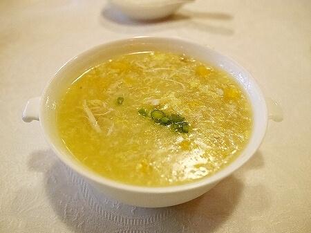 スリランカ Tao シナモングランドコロンボホテル レストラン 中華 カニ入りコーンスープ