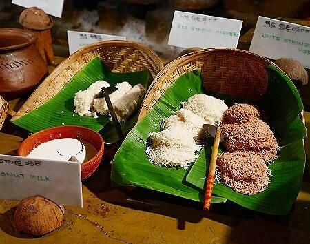 スリランカ コロンボ NUGA GAMA ヌガガマ Colombo レストラン スリランカ料理 ビュッフェ ストリングホッパー 麺