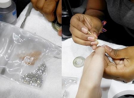 スリランカ コロンボ ジェルネイル ネイルサロン OPI Nail Studio ストーン