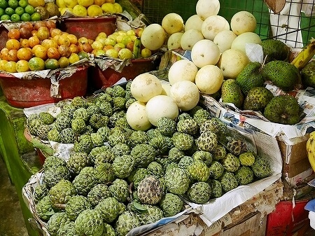 スリランカ コロンボ コルピティアマーケット Kollupitiya Market 釈迦頭