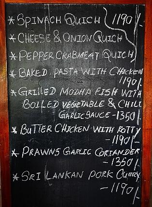 スリランカ コロンボ Barefoot Garden Cafe ベアフットガーデンカフェ メニュー