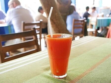 スリランカ コロンボ Barefoot Garden Cafe ベアフットガーデンカフェ パパイヤジュース