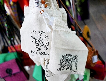 スリランカ コロンボ ラクサラ お土産屋 LAKSALA ゾウ 巾着袋