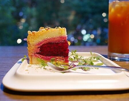 台湾 台北 The One 花園蔬果蛋糕 ガーデンフルーツショートケーキ ドラゴンフルーツ フルーツティー カフェ