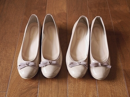 旅行 おすすめ 靴 ブランコワール Balancoire リボンエナメルウエッジパンプス レインパンプス