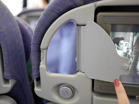 チャイナエアライン搭乗記 台湾 CI107 CI106 機内 席 シート 鏡