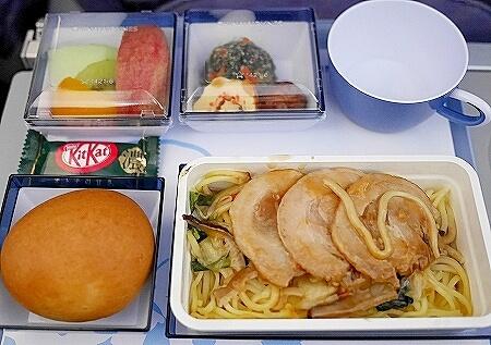 チャイナエアライン搭乗記 台湾 CI107 CI106 機内食