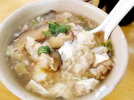 台北 天天利美食坊 西門 香菇肉羹飯 シイタケと豚肉ご飯