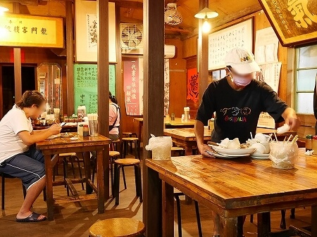 台湾 台北 龍門客桟餃子館 水餃子 店内