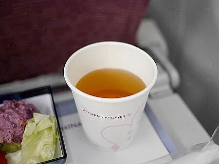 チャイナエアライン搭乗記 台湾 CI107 CI106 機内食 烏龍茶