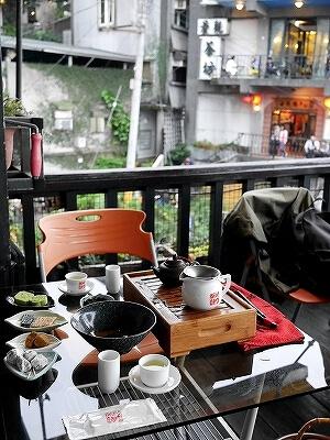 台湾 九份 九フン 阿妹茶樓 阿妹茶酒館 あめちゃろう あめおちゃ お茶屋 テラス席