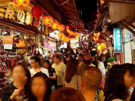 ベルトラ 夜の九份ツアー 台湾 九ふん オプショナルツアー 現地ツアー 混み具合 人ごみ