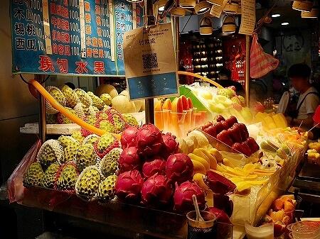 台湾 士林夜市 果物 フルーツ 釈迦頭