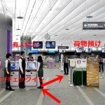 台北駅 インタウンチェックインの方法 市内チェックイン 自動チェックイン機 セルフチェックイン