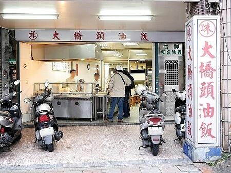台湾 台北 珠記大橋頭油飯 おこわ 目玉焼き 外観