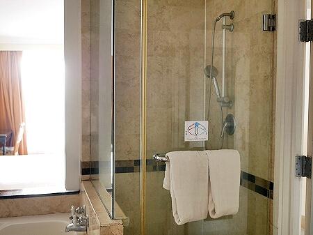 ロイヤルオーキッドグアムホテル Royal Orchid Guam Hotel 宿泊記 部屋 室内 シャワールーム