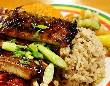グアム ジャマイカングリル Jamaican Grill セットメニュー ジャークチキン&リブ コンボ ジャマイカンライス レッドライス