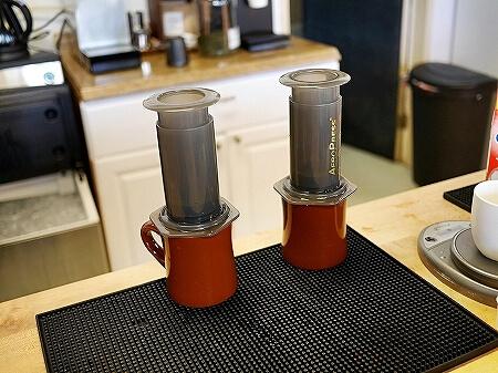 グアム Cafe Gudcha おすすめカフェ エアロプレス コーヒー